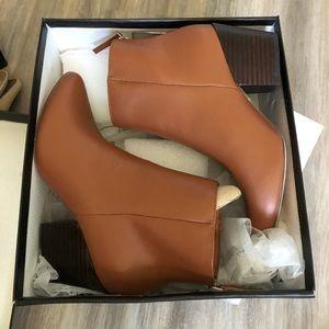 Lulus Cognac Ankle Booties